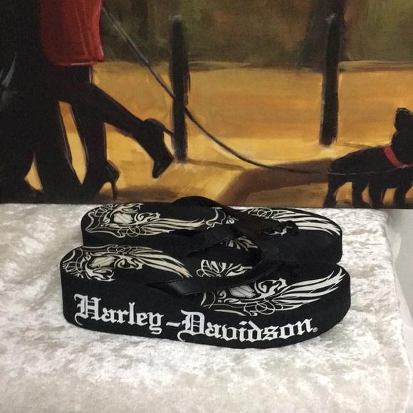 a2d560777b0b4 Harley-Davidson Shoes - 2  29!Harley-Davidson Flip Flops wedges